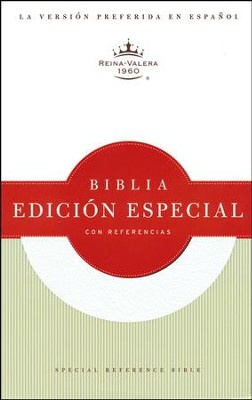 Biblia Especial con Referencias RVR 1960, Piel Fab. Blanca Ind.  (RVR 1960 Special Reference Bible, Bon. Leather White Ind.)  -