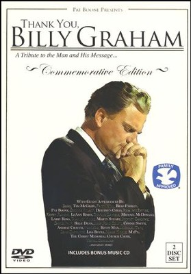 Thank You, Billy Graham: A Tribute to the Man and His Message - DVD with Bonus Music CD  -     By: Pat Boone