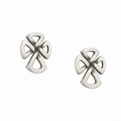 Sterling Silver Celtic Cross Earrings  -     By: Bob Siemon