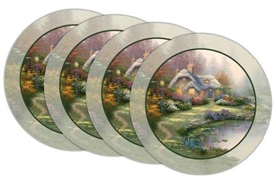 Thomas Kinkade Everett's Cottage Coasters, Set of 4  -     By: Thomas Kinkade