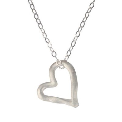 Sterling Silver Pendant - Open Heart  -     By: Bob Siemon
