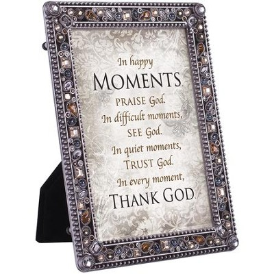 In Happy Moments, Praise God Jeweled Plaque  -