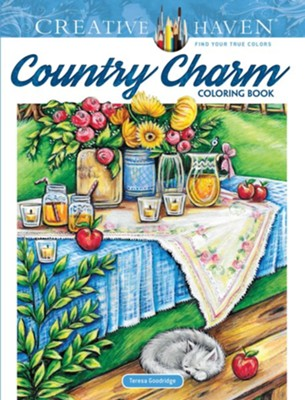 Country Charm Coloring Book  -     By: Teresa Goodridge