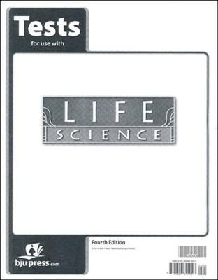 BJU Life Science Tests, Grade 7, 4th Edition   -