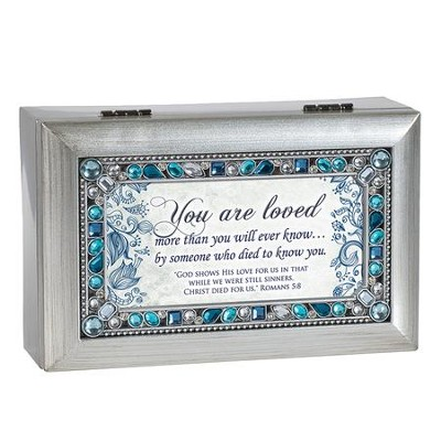 You Are Loved, Jeweled Silver Music Box  -