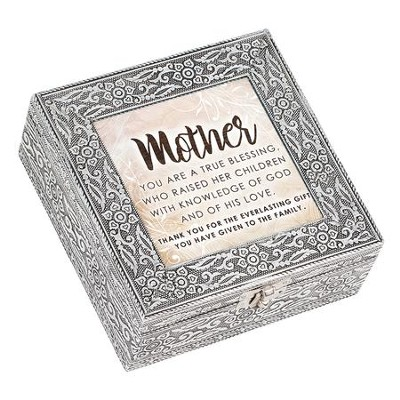Mother, You Are a True Blessing, Silver Metal Music Box  -