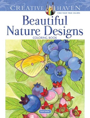Beautiful Nature Designs Coloring Book  -     By: Ruth Soffer