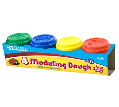 2 Oz. Multi Color Modeling Dough (Pack of 4)   -