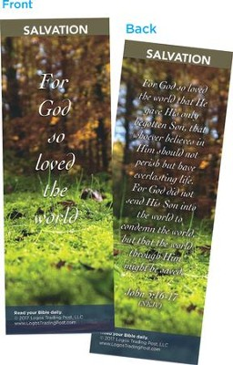 For God So Loved the World Bookmarks, Pack of 25  -