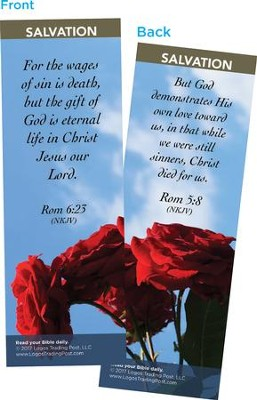 For the Wages of Sin is Death Bookmarks, Pack of 25  -