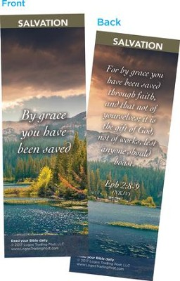 By Grace You Have Been Saved Bookmarks, Pack of 25  -