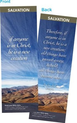 If Anyone if in Christ, He is a New Creation Bookmarks, Pack of 25  -