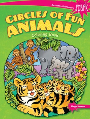 Circles of Fun Animals Coloring Book  -     By: Maggie Swanson