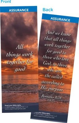 All Things Work Together for Good Bookmarks, Pack of 25  -