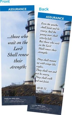 Those Who Wait on the Lord Shall Renew Their Strength Bookmarks, Pack of 25  -