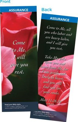 Come to Me, I Will Give You Rest Bookmarks, Pack of 25  -