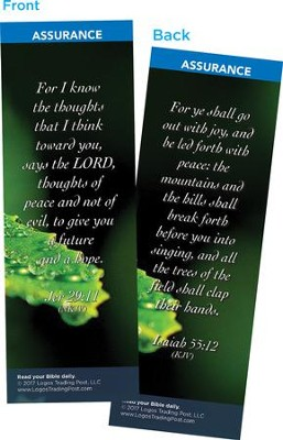 For I Know the Thoughts That I Think Toward You Says the Lord Bookmarks, Pack of 25  -