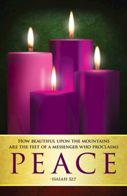 Peace Advent Sunday 4 Bulletins, Pack of 50  -