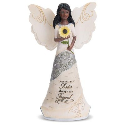 Forever My Sister, Always My Friend, Ebony Angel Figurine  -