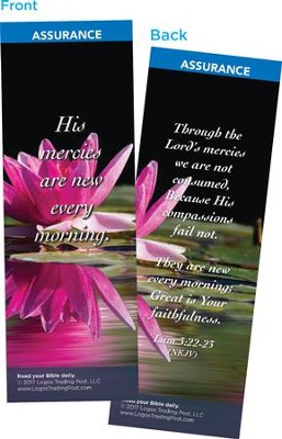 His Mercies Are New Every Morning Bookmarks, Pack of 25  -