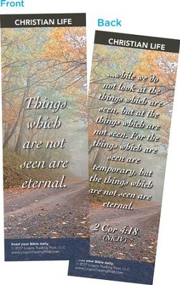Things Which Are Not Seen Are Eternal Bookmarks, Pack of 25  -