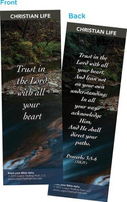 Trust in the Lord with All Your Heart Bookmarks, Pack of 25  -