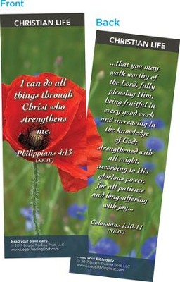 I Can Do All Things Through Christ, Bookmarks, Pack of 25          -
