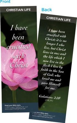 I Have Been Crucified with Christ Bookmarks, Pack of 25  -