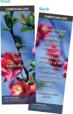 Be Steadfast and Immovable Bookmarks, Pack of 25  -