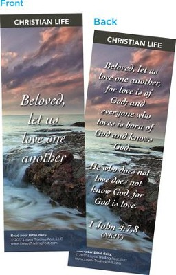 Beloved, Let Us Love One Another Bookmarks, Pack of 25  -