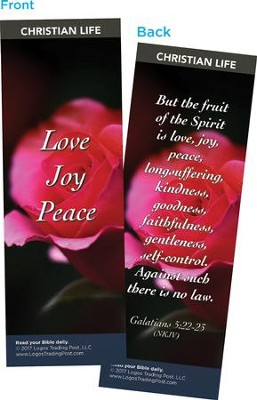 Love Joy Peace Bookmarks, Pack of 25  -