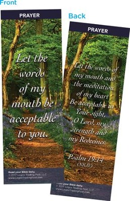 Let the Words of My Mouth Be Acceptable to You Bookmarks, Pack of 25  -