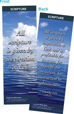 All Scripture is Given By Inspiration of God Bookmarks, Pack of 25  -