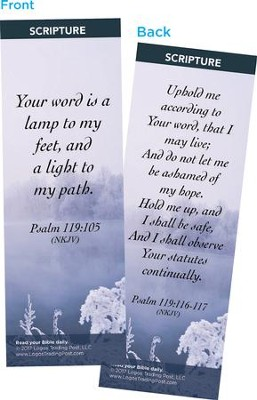 Your Word is a Lamp to My Feet Bookmarks, Pack of 25  -