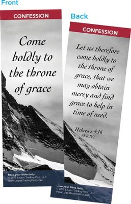 Come Boldly to the Throne of Grace Bookmarks, Pack of 25  -