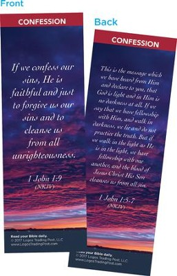 If We Confess Our Sins, He is Faithful Bookmarks, Pack of 25  -