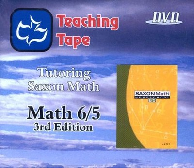 Teaching Tape Full Set DVDs: Saxon Math 6/5, 3rd Edition  -