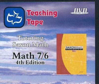 Saxon Math 7/6 Teaching Tape Full Set DVDs, 4th Edition   -