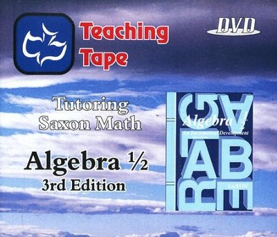 Saxon Math Algebra 1/2 Teaching Tape Full Set DVDs, 3rd Edition   -