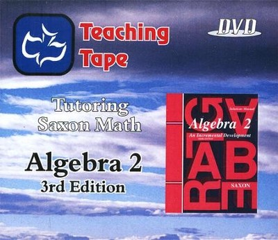 Saxon Math Algebra 2 Teaching Tape Full Set DVDs, 3rd Edition   -