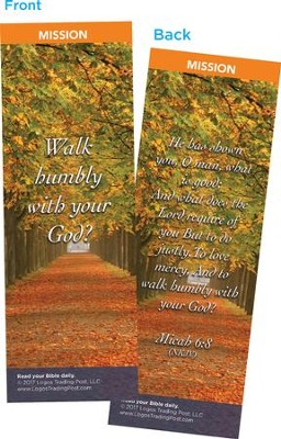 Walk Humbly With Your God Bookmarks, Pack of 25  -