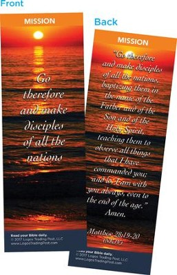 Go Therefore and Make Disciples of All the Nations Bookmarks, Pack of 25  -