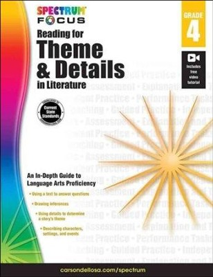 Spectrum Reading for Theme and Details in Literature, Grade 4  -