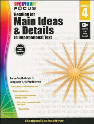 Spectrum Reading for Main Ideas and Details in Informational Text, Grade 4  -
