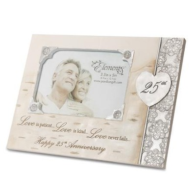 Love is Patient, Love is Kind, 25th Anniversary Photo Frame   -