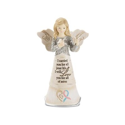 I Carried You For All Your Life Angel with Butterflies Figurine  -