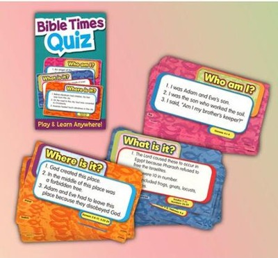 Bible Times Quiz Card Game