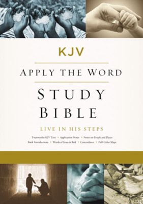 KJV, Apply the Word Study Bible, Ebook, Large Print, Red Letter Edition: Live in His Steps - eBook  -