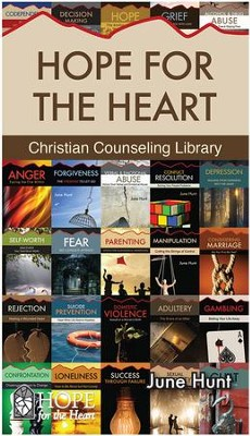 Hope for the Heart, 42-Book Christian Counseling Library - eBook   -     By: June Hunt