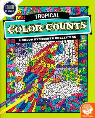Tropical Color Counts: A Color by Number Collection   -